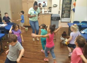 danielle dancing with the children